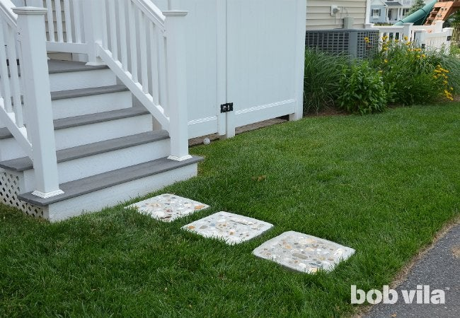 DIY Stepping Stones - Completed Project