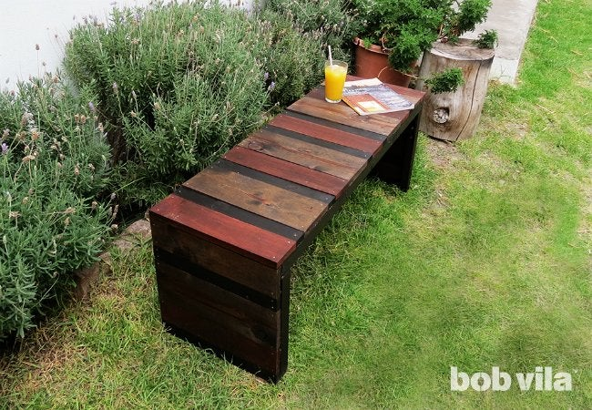 DIY Outdoor Bench - In Situ Completed