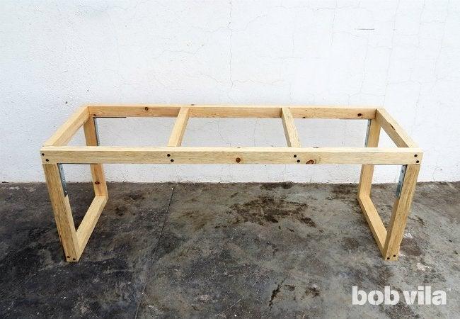 DIY Outdoor Bench - Rough Frame