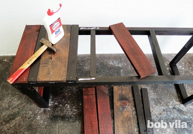 DIY Outdoor Bench - Finishing Work