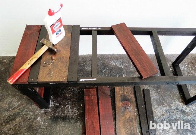 DIY Outdoor Bench - Finishing Work