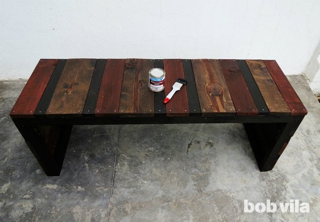 DIY Outdoor Bench - Sealing Seat
