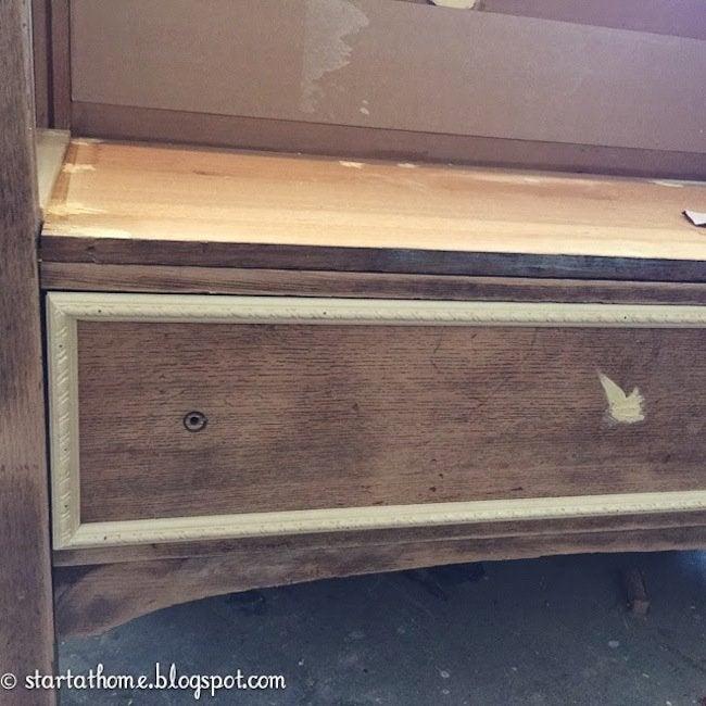 DIY Dresser Bench - step 3
