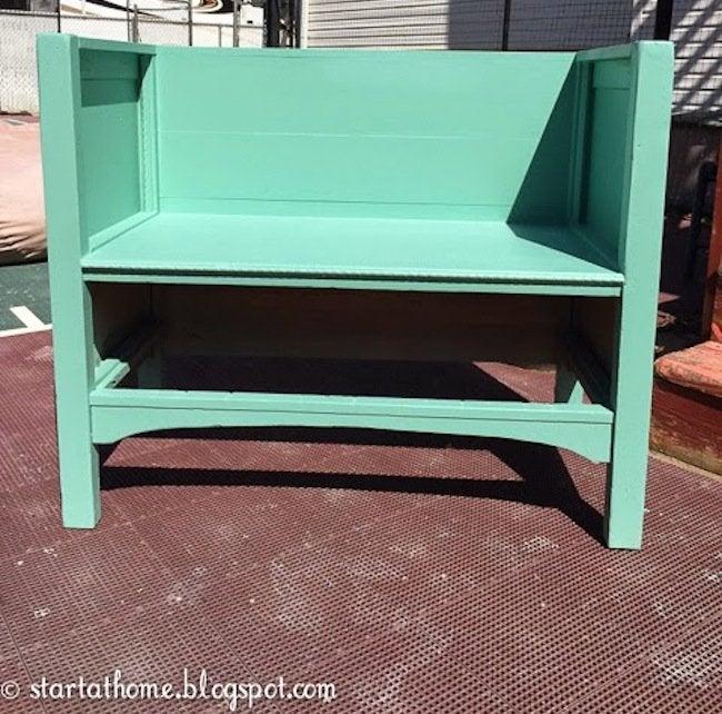 DIY Dresser Bench - step 4