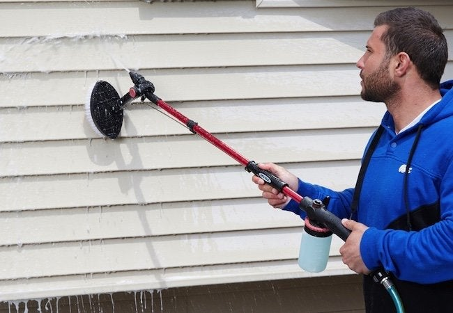 how to clean wood siding with pressure washer