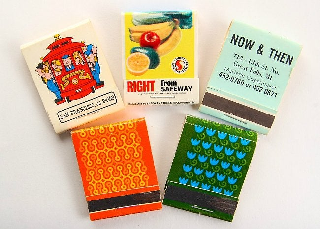 DIY Matchbook Notepad - Now and Then