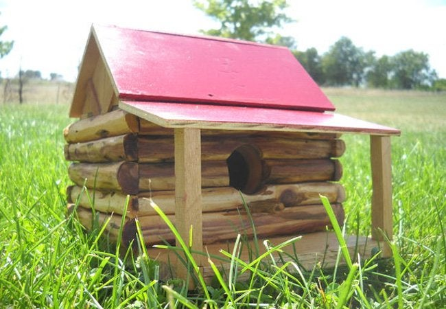 DIY Birdhouse - Log Cabin