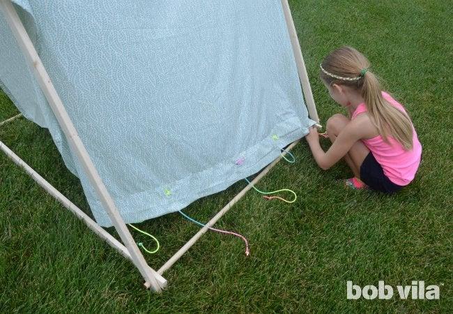 DIY Tent - Tie Downs