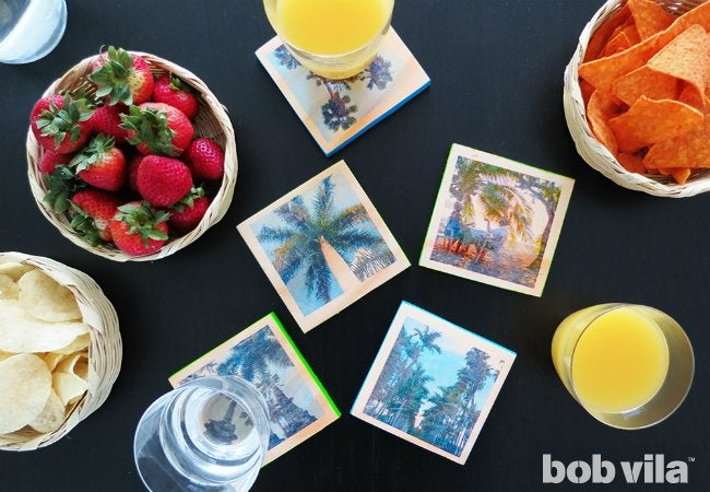 DIY Photo Coasters - Travel Souvenirs