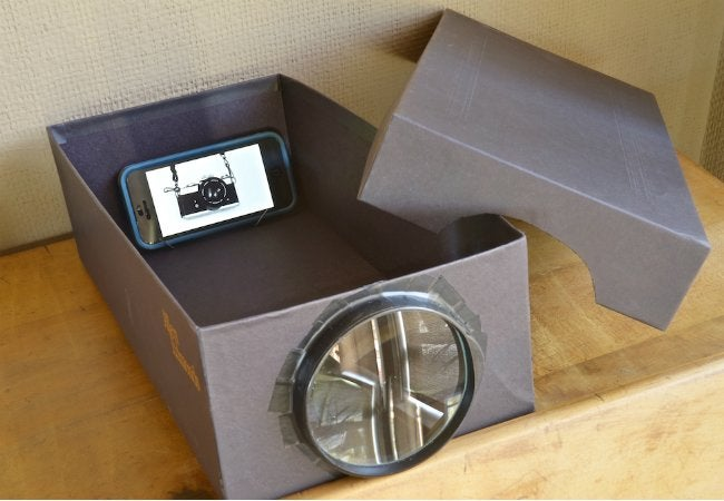 DIY Movie Projector - Cardboard Box