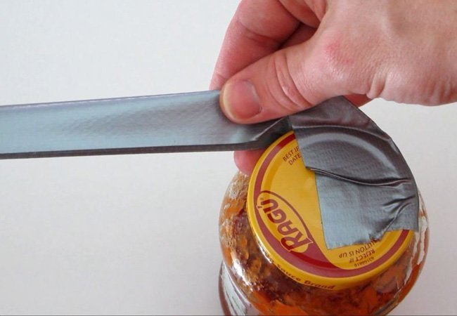 How to Open a Stuck Jar - Duct Tape