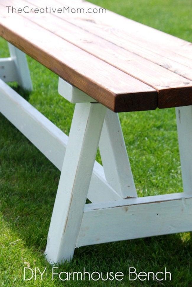 how to build farmhouse bench