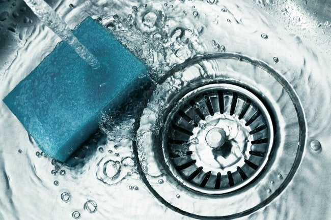 How To Clean A Stainless Steel Sink   Sponge It Down