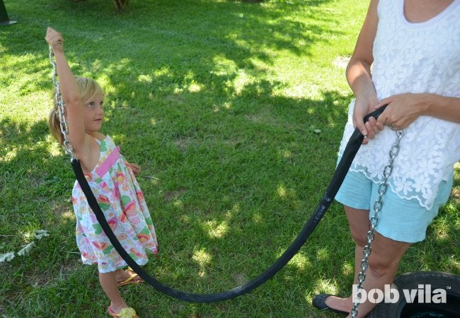 DIY Tire Swing - Project Step 6