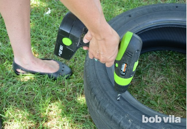 DIY Tire Swing - Step 2