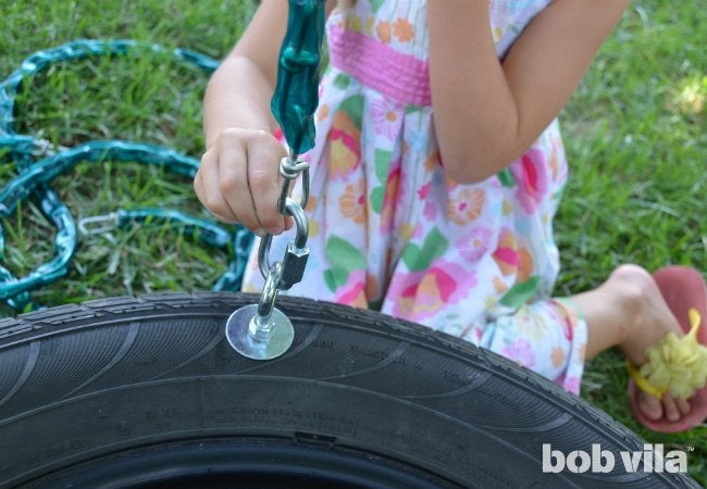 DIY Tire Swing - Step 4
