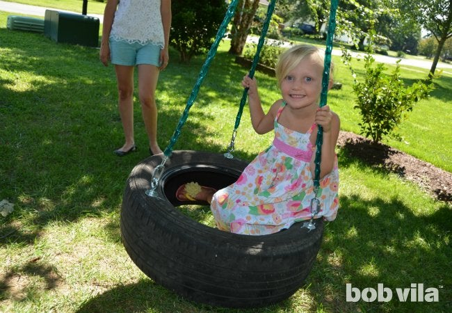 DIY Tire Swing - Swing Completed
