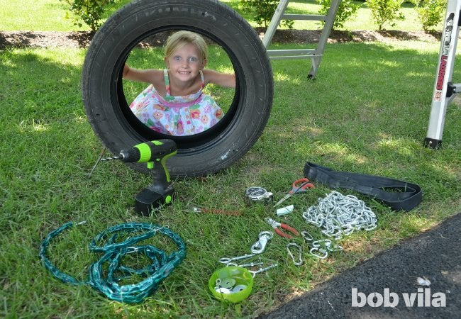DIY Tire Swing - Project Supplies