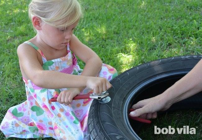 DIY Tire Swing - Step 3