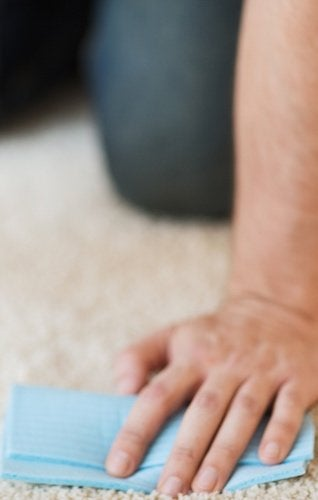 How to Remove Paint from Carpet - Blotting Rag