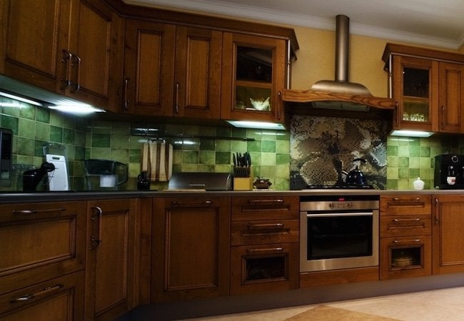 How To Stain Cabinets Kitchen Full
