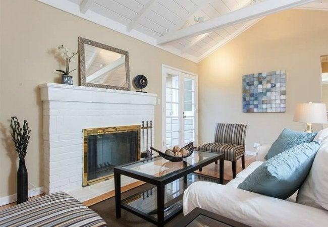How To Paint a Brick Fireplace - White Brick