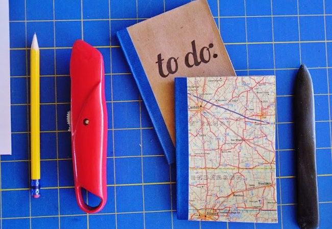 Paper Bag Crafts - Notebook
