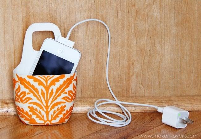 diy charging station - bucket