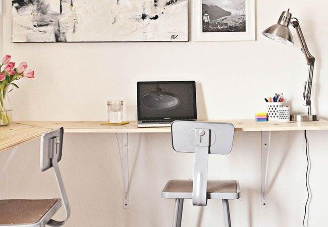 DIY Computer Desk - standing desk
