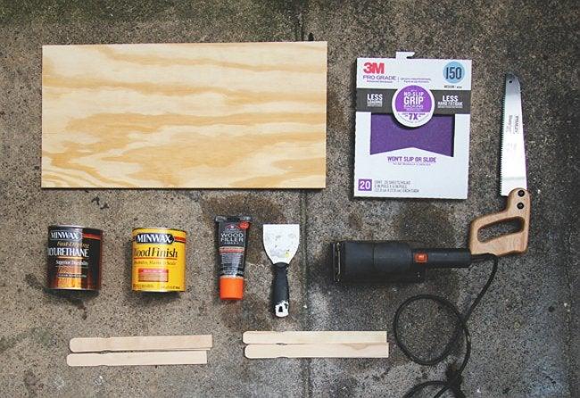 DIY Paint Stirrer Countertop - Project Materials Shot