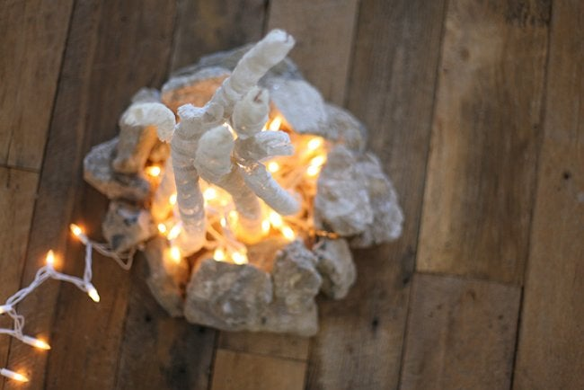 Fake Campfire - Made with String Lights