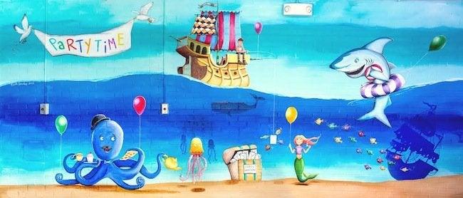 Mural Artist - Ocean Mural