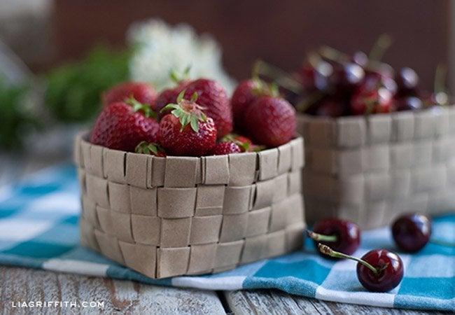 paper bag crafts - baskets