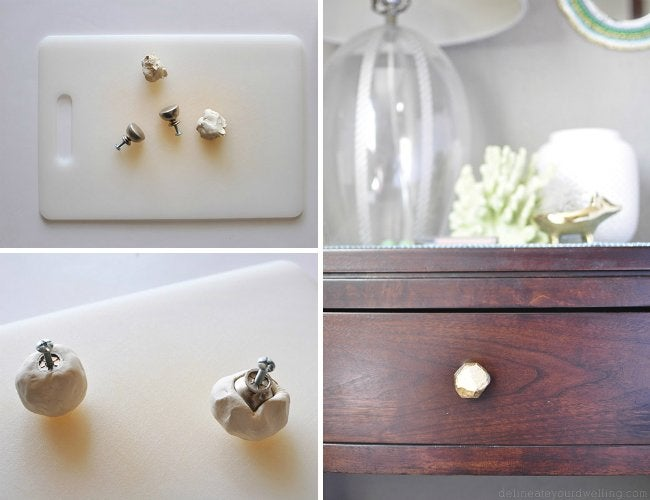 Air Dry Clay Projects - DIY Drawer Knobs