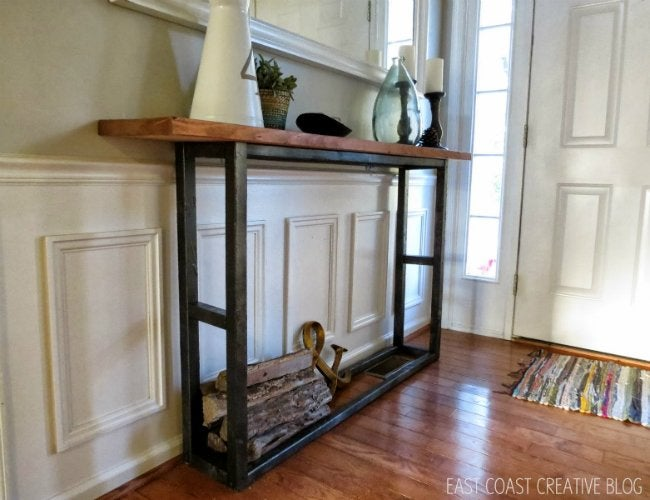 DIY Console Table - Skinny Entryway Table