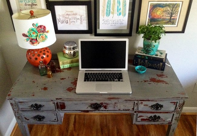 Homemade Paint - Milk Paint Desk