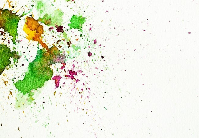 Old Toothbrush - Splatter Paint Effect