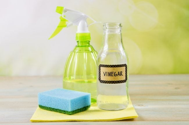 Clean Mirrors with Vinegar