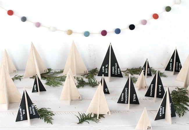 DIY Advent Calendar - Tabletop Forest