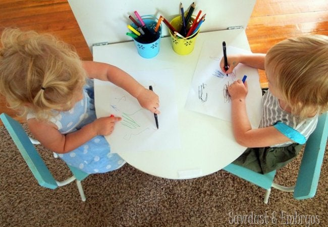 DIY Folding Table - Drop-Down Kids' Table