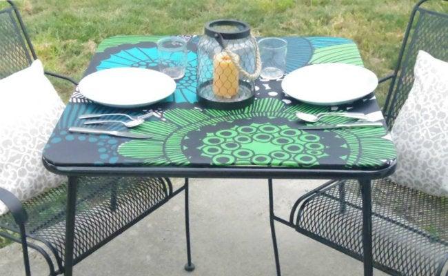 DIY Folding Table - Card Table Makeover