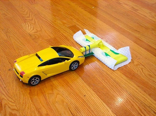 Remote Control Mop - DIY with a Car and a Swiffer