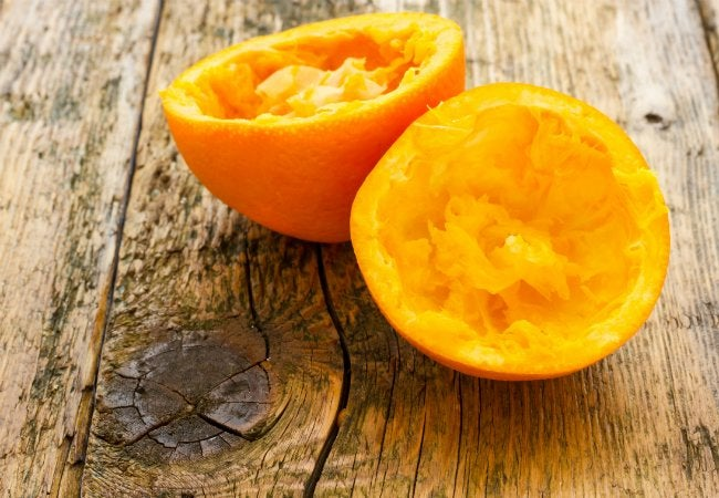 Homemade Kindling - Throw Orange Peels in Your Fire