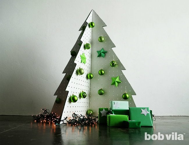 how to make a christmas tree out of pegboard - How To Make A Christmas