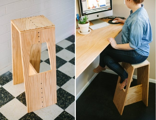 Diy Bar Stools Built From Plywood