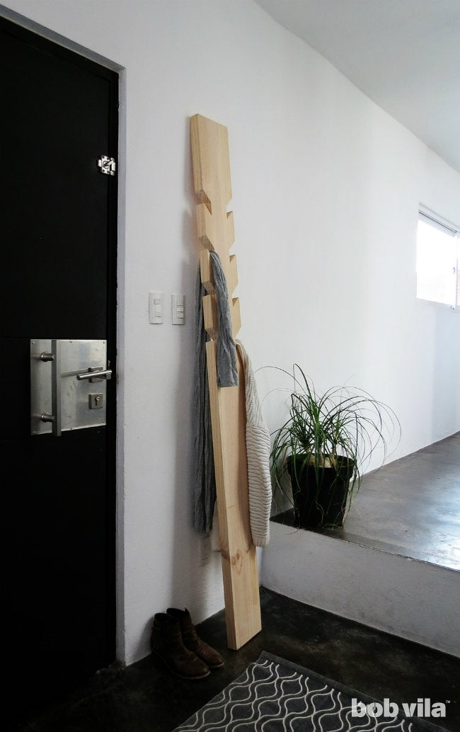 DIY Coat Rack - Finished Coat Rack