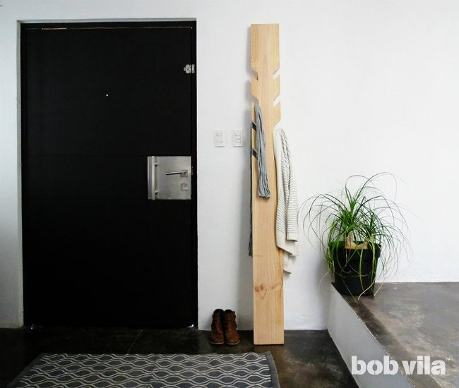 DIY Coat Rack DIY Lite Bob Vila Custom Making A Coat Rack
