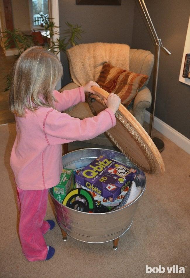 DIY Toy Chest - Reveal Hidden Storage