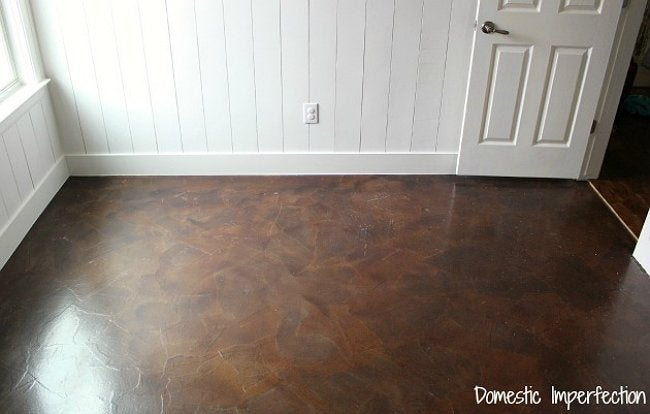 Paper Bag Flooring Finished Floor By Domestic Imperfection