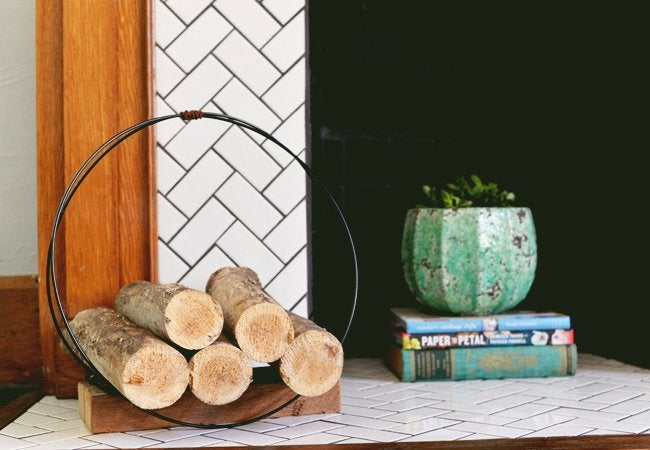 DIY Firewood Rack - Made with Wire